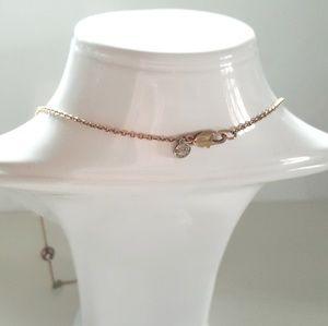 J. Crew Jewelry - NWOT J. CREW GOLD TURQUOISE & DAIMOND NECKLACE